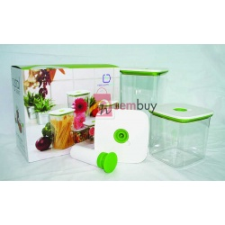 Crystal VacuumSaver Airtight Containers
